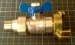 1/2 inch MxF UNION VALVE WITH QUICK COUPLING BLUE