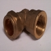22mm Copper Compression 90deg Elbow x 0.50 inch FBSP